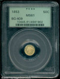 California Fractional Gold: , 1853 50C BG-409