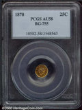 California Fractional Gold: , 1870 25C BG-755