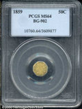 California Fractional Gold: , 1859 50C BG-902