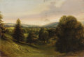 Fine Art - Painting, European:Antique  (Pre 1900), ENGLISH SCHOOL (19th Century). Rolling Hills. Oil onmill-board. 11 x 16 inches (27.9 x 40.6 cm). ...