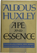 Books:First Editions, Aldous Huxley. Ape and Essence....