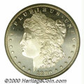 1880-S $1 MS 67 Deep Mirror Prooflike PCGS. A superlative representative of this otherwise common S-mint delivery, both...