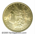 1882-O/S $1 MS 64 NGC. This is a lovely, nearly pristine representative of this elusive overmintmark variety. The surfac...