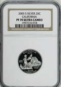 Proof Statehood Quarters: , 2005-S 25C California Silver PR70 Deep Cameo NGC. PCGS Population (156/0). Numismedia Wsl. Price for NG...