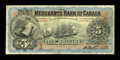 Canadian Currency: , Montreal, PQ- The Merchants Bank of Canada $5 Jan. 1, 1900 Ch. #460-14-04. ...