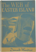 Books:First Editions, Donald Wandrei. The Web of Easter Island....