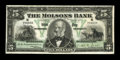 Canadian Currency: , Montreal, PQ- The Molsons Bank $5 Jan. 2, 1912 Ch. # 490-32-02. ...