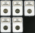 Statehood Quarters, 1999-P 25C Delaware MS67 NGC. The Set includes 1999-P Delaware,1999-P Pennsylvania, 1999-P New Jersey, 1999-P Georgia and ...(Total: 5 coins)