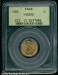 1908 1C MS 65 Red PCGS. A flashy example with fiery red surfaces and no significant impairments....(PCGS# 2231)