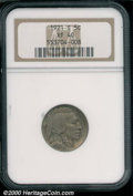1921-S 5C XF 40 NGC. A problem-free survivor of this key S-mint delivery, the surfaces display light overall wear and st...