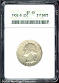 1932-D 25C XF 45 ANACS. A slightly circulated example with much remaining luster and light peripheral toning. An excelle...