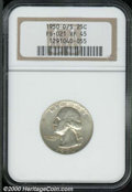1950-D/S 25C XF 45 NGC. FS-021. This is an untoned representative of this scarce overmintmark variety. The surfaces are...
