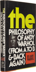Books:Signed Editions, Andy Warhol. The Philosophy of Andy Warhol ...