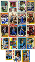 Autographs:Sports Cards, Mike Schmidt Signed Trading Cards Lot of 19. A whopping 19 signedtrading cards are offered here courtesy of the big redhea...