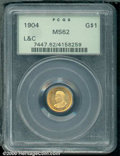 Commemorative Gold: , 1904 G$1 L&C