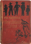 Books:First Editions, Mark Twain [Samuel L. Clemens]. The Adventures of HuckleberryFinn (Tom Sawyer's Comrade). London: Chatto & Wind...