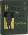 Books:First Editions, Mark Twain [Samuel L. Clemens]. The Adventures of HuckleberryFinn (Tom Sawyer's Comrade). New York: Charles L. ...