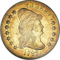 Early Eagles, 1799 $10 Small Stars Obverse--Scratched, Bent--ANACS. AU55 Details....