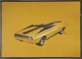 "Movie/TV Memorabilia:Original Art, George Barris Dodge Dart Production 3/4-View Sketch. An 18"" x 13"" concept design sketch for an unspecified model year of the... (Total: 1 Item)"