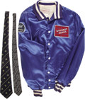 Movie/TV Memorabilia:Costumes, Buddy Ebsen's Barnaby Jones Crew Jacket and Costume Ties. Includes Buddy's blue silk crew jacket (size XL) with ... (Total: 1 Item)