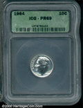 Proof Roosevelt Dimes: , 1964 10C