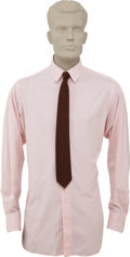 Movie/TV Memorabilia:Costumes, Buddy Ebsen's Barnaby Jones Costume Suit and Tie. Included are a red-brown silk neck tie and pink dress shirt wo... (Total: 1 Item)