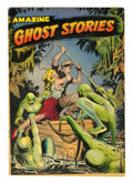 Golden Age (1938-1955):Horror, Amazing Ghost Stories #14 (St. John, 1954) Condition: FN....
