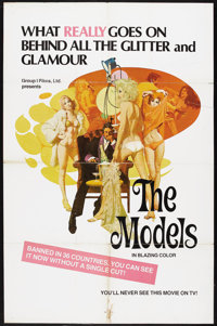 """The Models (Group 1, 1970s). One Sheet (27"""" X 41""""). Sexploitation Drama. Pinholes and edge wear. A stain at th..."""