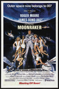 "Movie Posters:James Bond, Moonraker (United Artists, 1979). One Sheet (27"" X 41"") Advance.James Bond Action. Starring Roger Moore, Lois Chiles, Micha..."