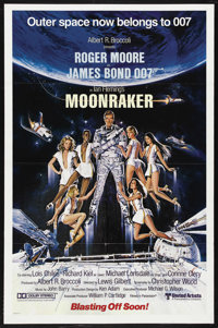 "Moonraker (United Artists, 1979). One Sheet (27"" X 41"") Advance. James Bond Action. Starring Roger Moore, Lois..."