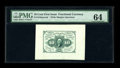 Fr. 1243SP 10¢ First Issue Wide Margin Pair PMG Superb Gem Unc 67 EPQ/64. The Superb back of this First Issue pair...