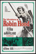 "Movie Posters:Adventure, The Adventures of Robin Hood (United Artists, R-1960s). One Sheet(27"" X 41""). Adventure. Starring Errol Flynn, Olivia de Ha..."