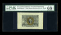 Fractional Currency:Second Issue, Fr. 1244SP 10¢ Second Issue Wide Margin Pair PMG Superb Gem Unc 67 EPQ/66 EPQ. The face has earned the 66 grade and the Supe... (Total: 2 notes)