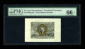 Fractional Currency:Second Issue, Fr. 1283SP 25¢ Second Issue Wide Margin Pair PMG Gem Uncirculated 66 EPQ/64. The face of this attractive pair is graded 66 E... (Total: 2 notes)