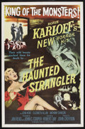 "Movie Posters:Horror, The Haunted Strangler (MGM, 1958). One Sheet (27"" X 41""). Horror. Starring Boris Karloff, Jean Kent, Elizabeth Allan, Anthon..."