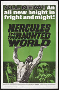 "Movie Posters:Adventure, Hercules in the Haunted World (Woolner Brothers, 1964). One Sheet(27"" X 41""). Fantasy Adventure. Starring Reg Park, Christo..."