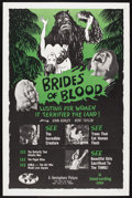 "Movie Posters:Horror, Brides of Blood (Hemisphere Pictures, 1968). One Sheet (27"" X 41"").Horror. Starring Kent Taylor, John Ashley, Oscar Deesee,..."
