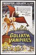 "Movie Posters:Horror, Goliath and the Vampires (American International, 1961). One Sheet (27"" X 41""). Adventure. Starring Gordon Scott, Gianna Mar..."