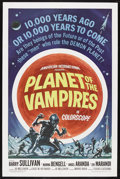 "Movie Posters:Horror, Planet of the Vampires (American International, 1965). One Sheet(27"" X 41""). Science Fiction Horror. Starring Barry Sulliva..."
