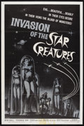 "Movie Posters:Science Fiction, Invasion of the Star Creatures (American International, 1962). One Sheet (27"" X 41""). Science Fiction Comedy. Starring Rober..."