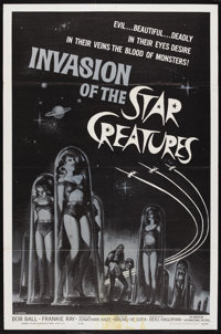 "Invasion of the Star Creatures (American International, 1962). One Sheet (27"" X 41""). Science Fiction Comedy..."