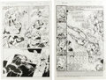 Original Comic Art:Splash Pages, Darick Robertson, Brandon McKinney, Larry Mahlstedt, PatrickZircher, Mark McKenna, and Aaron McClellan - The New WarriorsPag... (Total: 2)