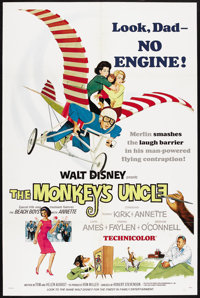 """The Monkey's Uncle (Buena Vista, 1965). One Sheet (27"""" X 41""""). Comedy. Starring Tommy Kirk, Annette Funicello..."""