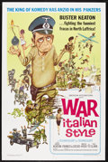 """Movie Posters:Comedy, War Italian Style (American International, 1966). One Sheet (27"""" X41""""). Comedy. Starring Buster Keaton, Franco Franchi, Cic..."""