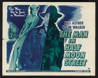 """The Man in Half Moon Street (Paramount, 1944). Half Sheet (22"""" X 28"""") Style A. Film Noir. Starring Nils Asther..."""