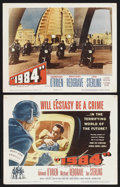 "1984 (Columbia, 1956). Title Lobby Card (11"" X 14"") and Lobby Card (11"" X 14""). Science Fiction. Sta..."