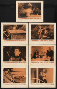 "Teenagers from Outer Space (Warner Brothers, 1959). Lobby Cards (7) (11"" X 14""). Science Fiction. Starring Dav..."