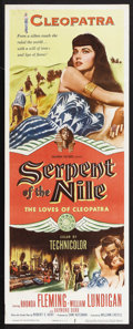 "Movie Posters:Drama, Serpent of the Nile (Columbia, 1953). Insert (14"" X 36"").Adventure. Starring Rhonda Fleming, William Lundigan, RaymondBurr... (Total: 2 Items)"