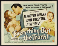 "Everything But the Truth (Universal International, 1956). Half Sheets (2) (22"" X 28"") Style A and B. Comedy. S..."