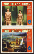 """Movie Posters:Science Fiction, This Island Earth (Universal, 1955). Lobby Cards (2) (11"""" X 14"""").Science Fiction. Starring Jeff Morrow, Faith Domergue and ...(Total: 2 Items)"""